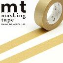 マスキングテープ mt カモ井加工紙 mt1P 無地 金 (15mmx10m) MT01P205・1巻