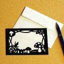 ハンドメイドキット トラストプリンティング 切り絵でメッセージカード きのこ MSGS007