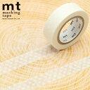 マスキングテープ mt カモ井加工紙mt 1P (15mmx10m)MT01D367 ドット ホワイト
