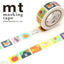 マスキングテープ マステ mt カモ井加工紙 mt for kids (15mmx7m) しりとり MT01KID029