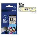 ラベルライター カートリッジブラザー ピータッチテープ12mm幅 ベビーミッキーイエロー 黒文字TZe-DL31
