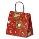 クリスマス 紙袋 手提げ HEIKO シモジマ スムースバッグ 26-16 ノエルリース 25枚入