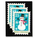 クリスマス先行SALE!クリスマスカード Mark's/マークス スタンプ・ミニカード スノーマン CHC-GC10-B(3セット入り)