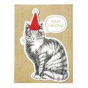 クリスマス売り切りSALE クリスマスカード クリスマス売り切りSALE Mark's/マークス ヴィンテージアニマル ネコ CHC-GC19-D 10P03D...
