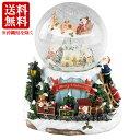 クリスマス ディスプレイ トゥインクルLEDラウンドスノードーム&オルゴール SMXG3510