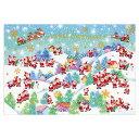 クリスマスカード APJ/アートプリントジャパン ミニサンタ グリーティングカード XC-1000083143(1枚入り・封筒付き) 10P03Dec16