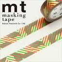 売り切り特価!クリスマス マスキングテープ mt カモ井加工紙 クリスマス・チェック 15mm×7m MTCMAS73 1P
