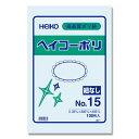 HEIKO シモジマ透明ポリ袋 ヘイコーポリNo15(厚0.03mm・100枚入り)