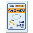 透明ビニール袋 HEIKO/シモジマ ヘイコーポリ(ポリ袋) No215(厚0.02mm・100枚入り)