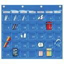 【クーポン配布中】SAKIウォールポケット レザー調PVC(塩ビ)×クリアー カレンダーポケット(Mサイズ) 35ポケットBLW-416