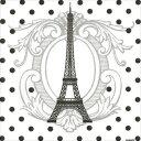 売り切りSALE!【Francoise PAVIOT/フランソワーズ・パビオ】不織布ナプキン TOUR EIFFEL 40x40cm(20枚入り)