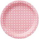 紙皿 カメヤマ ペーパープレート ドット ピンク(8枚入) KB0050000 10P03Dec16