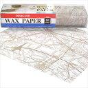 ワックスペーパー Season/シーズン デザインWAXペーパー オールドパリマップ(ベージュ) PG-92V スタンダードサイズ(21.8×25cm)2パックセット(50枚入り×2箱)