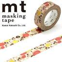 マスキングテープ マステ mt カモ井加工紙 mt x アルメダールス マッシュルーム(15mmx10m)MTALME02・1巻