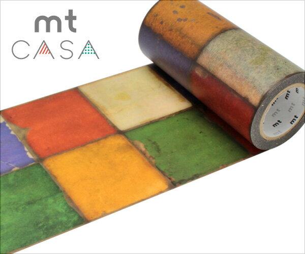 マスキングテープ 幅広 mt カモ井加工紙mt CASA テープ タイル・ヴィンテージ(100mmx10m)MTCAS009