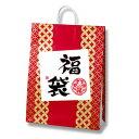 紙袋 手提げ HEIKO / シモジマ 福袋用紙袋 25チャームバッグ(25CB)べにだるまカスタムB(50枚入り)