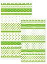 売り切りSALE!Paquet mignonラッピングキット 角底袋セット FB A30-4 フレンチパターン ライトグリーン