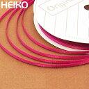 リボン ラッピング HEIKO/シモジマ シングルサテンリボン 幅3mmx20m 赤紫(アカムラサキ)