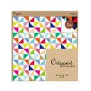 【midori/ミドリ】Origami オリガミオリガミ 15cm角 風車柄(2色入り)