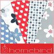 売り切りSALE!【輸入包装紙セット】【Homebird/ホームバード】包装紙セット(両面印刷) フラワー&バード(5枚入り)
