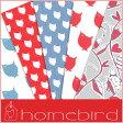 売り切りSALE!【輸入包装紙セット】【Homebird/ホームバード】包装紙セット(両面印刷) バード&ストライプ(5枚入り) 10P27May16