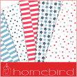 売り切りSALE!【輸入包装紙セット】【Homebird/ホームバード】包装紙セット(両面印刷) ドット&フラワー(5枚入り)