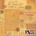 在庫限りSALE! 【ROSSI /ロッシ】輸入包装紙 CRT640 Italian postcards (5枚入り)