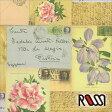 在庫限りSALE! 【ROSSI /ロッシ】輸入包装紙 CRT645 Letters (5枚入り)