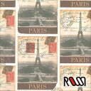 在庫限りSALE! 【ROSSI /ロッシ】輸入包装紙 CRT655 Destination Paris (5枚入り)