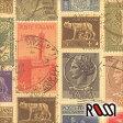 在庫限りSALE! 【ROSSI /ロッシ】輸入包装紙 CRT657 Italian stamps (5枚入り) 10P27May16