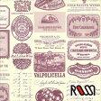 在庫限りSALE! 【ROSSI /ロッシ】輸入包装紙 CRT669 Wine labels (5枚入り) 10P27May16