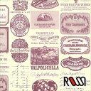 在庫限りSALE! 【ROSSI /ロッシ】輸入包装紙 CRT669 Wine labels (5枚入り)