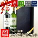 送料無料 ソムリエ厳選ギフト ボルドー赤・白ワイン2本セット...