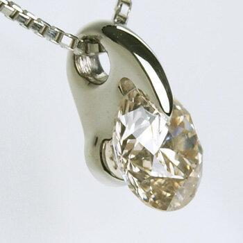 「[鑑定書付]一粒ダイヤモンドペンダント ネックレス(チェーン付き) 1点留め 1.0ctUP MUP SIUP Pt900/Pt850」[一粒ダイヤ][ダイヤモンド][n5] 贅沢でスタイリッシュ!大粒1.0ctUPダイヤモンドペンダント