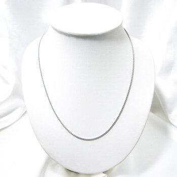 「「カットポンパチェーン K18WG 太さ:1.7mm 長さ:60cm スライド式  (ペンダントチェーンネックレス)」(真珠用)」(真珠用)[_包装選択][n5] エレガントな輝きを胸元へK18WGカットポンパチェーン【おもい】