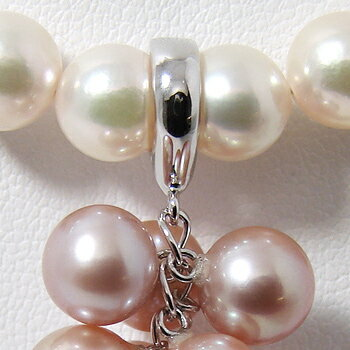 「シンプルジャラクリッカー金具(K14WG)」(真珠用)[n5]  華やぎを生むジャラクリッカー【真珠】【パール】