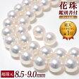 真珠 パールネックレス 2点セット ≪超還元≫ 花珠真珠 8.5-9.0mm AAA グッドクオリティ[花珠鑑別書付] [HS][n4]