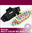 Wstudio☆ダブルスタジオ☆【全2色】MULTI COLOR Mic Belt☆