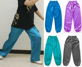 Satin Tai pants (Ocean, light purple, Emerald)