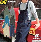 ツナギ服 ストリートスタイル ワークカジュアル CAT サロペット クレヒフク KR1650 ★