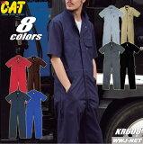 ツナギ服 BLUE CAT アメリカンシルエット 半袖つなぎ服 クレヒフク KR608 ★