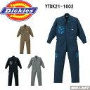 ツナギ服 dickies ディッキーズ 個性的な柄がアクセント 長袖 つなぎ服 21-1602 ツナギ 山田辰 YTDK21-1602 オールシーズン