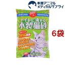 猫砂 常陸化工 流せる木製猫砂(6L*6コセット) cat toilet