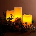 WY 高級LEDキャンドルライト 3点セット 電池式 自動点灯&消灯タイマー リモコン付き 寝室 間接照明 本物の蝋を使用 クリスマス