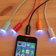 【iPhone 7 対応】光るLightning USBケーブル iPhone7/7 Plus動作確認済 暗い場所でもケーブルの場所がすぐわかって便利!iPhone、iPad Air、iPad miniを充電できる! データ転送・同期にも対応【あす楽対応】532P17Sep16
