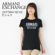 アルマーニエクスチェンジ レディース Tシャツ ARMANI EXCHANGE BLACK 3ZYTBM YJC9Z