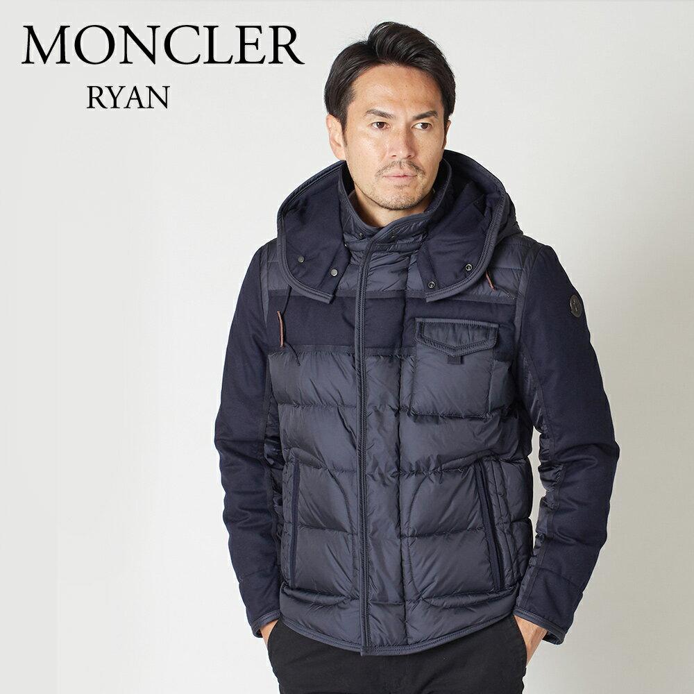 モンクレール メンズ ダウンジャケット MONCLER RYAN 4139285 53227 ネイビー系 (742)