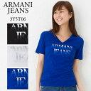 アルマーニジーンズ レディース VネックTシャツ ARMAN...