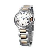 カルティエ 腕時計 レディース CARTIER 【バロンブルー】 イエローゴールド SM ホワイト文字盤 W69007Z3 【お取り寄せ】