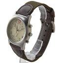 ウェンガー 腕時計 メンズ WENGER WEN72951フィールドクロノ IVカワ アイボリー × ブラウン
